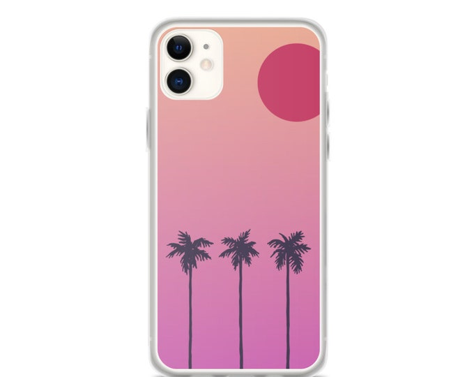 iPhone Case - Beach Sunset Design, Modern Phone Case for iPhones