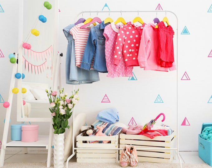 Geometric Triangle Wall Decals - Nursery Decals, Kids Room Wall Decor, Removable Wall Stickers