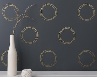 Gold Wall Decal | Etsy