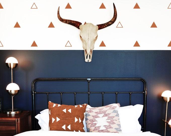 Triangle Wall Decals - Geometric Wall Art, Kids Room Wall Decor, Farmhouse Decor, Nursery Wall Stickers
