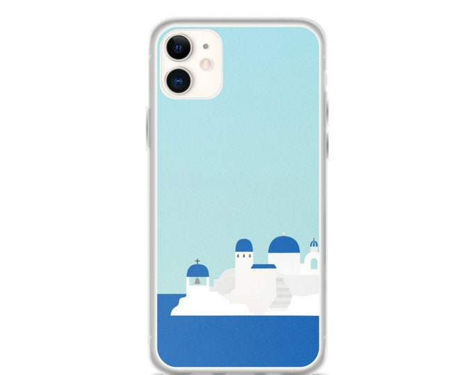 iPhone Case - Minimal Santorini Phone Case, Travel Lover Gift