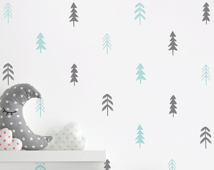 Tree Wall Decals - Woodland Nursery Decor, Nursery Decals, Unique Wall Decor, Woodland Decals, Kids Room Decor