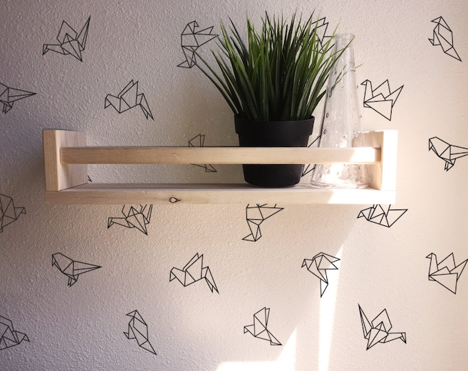 Geometric Origami Wall Decals - 45 Vinyl Bird Decals, Wall Stickers, Geometric Decor, Wall Patterns, Unique Decor for Gifts and More!