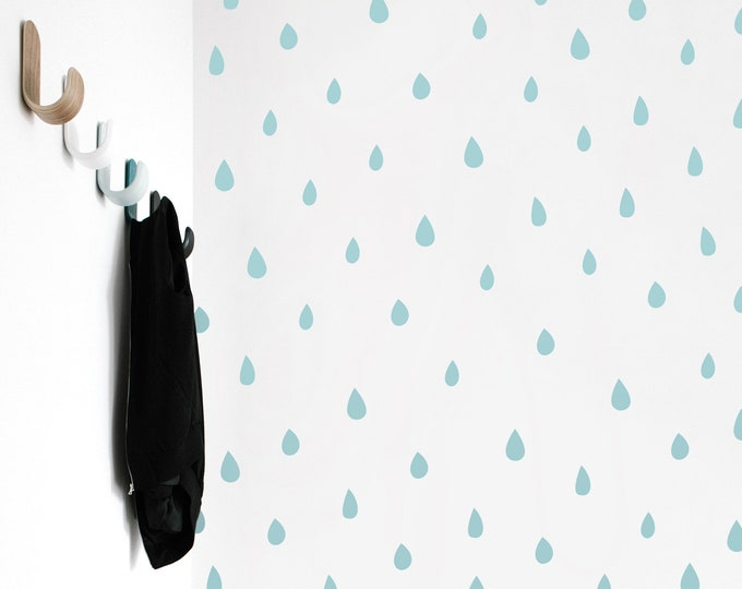 Raindrop Wall Decals - Rain Decals, Rain Wall Sticker, Nursery Decals, Kids Room Decals, Nursery Decor, Kids Decor