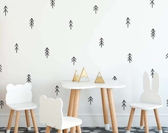 Tree Wall Decals - Nursery Decor, Gift for Mom, Wall Decor, Kids Room Decals, Hand Drawn Tree Decals, Wall Art, Gift for Kids