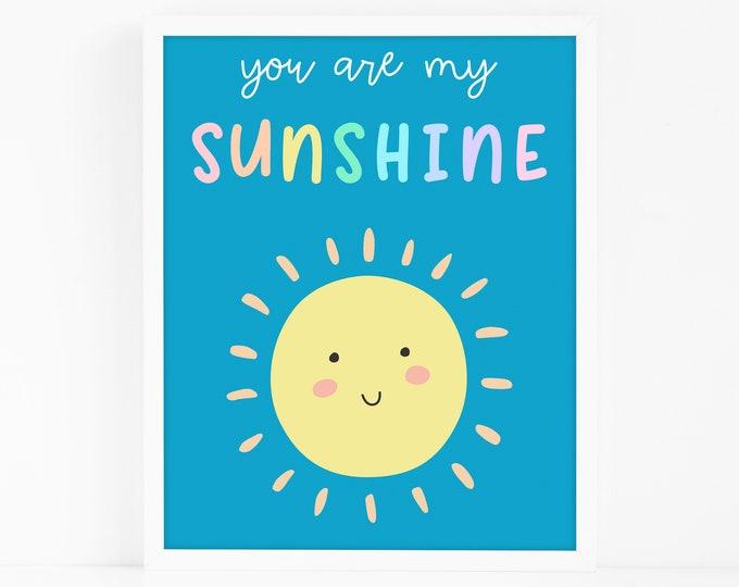 Sunshine Art Print - Kids Room Art Print, Nursery Art, Wall Art, Wall Decor, Gift for Kids, Gift for Mom