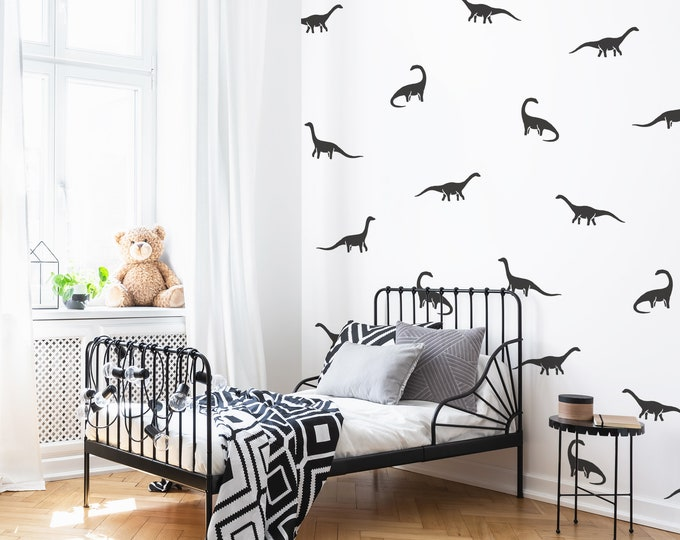 Dinosaur Wall Decals - Nursery Decor, Kids Room Wall Art, Removable Wall Stickers