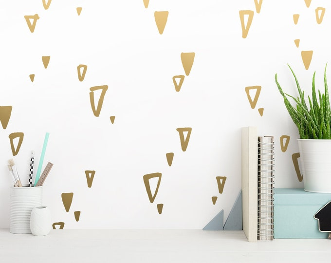 Sketched Triangle Wall Decals - Scandinavian Style Decals, Vinyl Wall Decals, Minimalist Decals, Geometric Wall Decals, Triangle Stickers