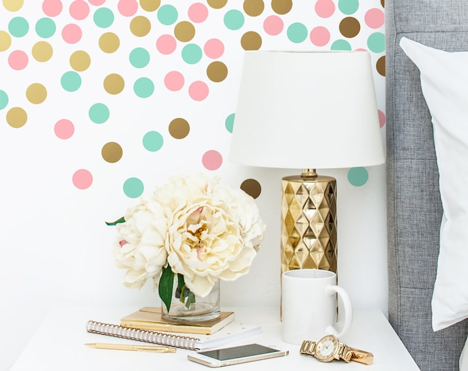 Polka Dot Wall Decals - Multicolored Wall Decals, Nursery Decals, Confetti Decals, Modern Wall Decals, Modern Decor