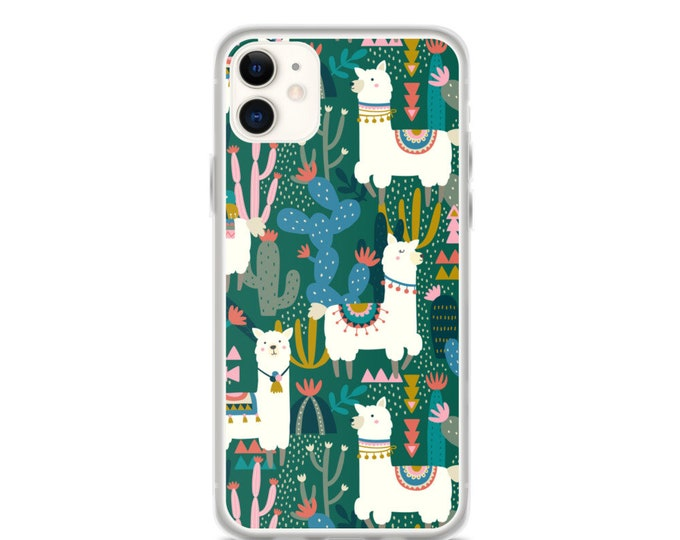 iPhone Case - Alpaca and Cactus Pattern Phone Case