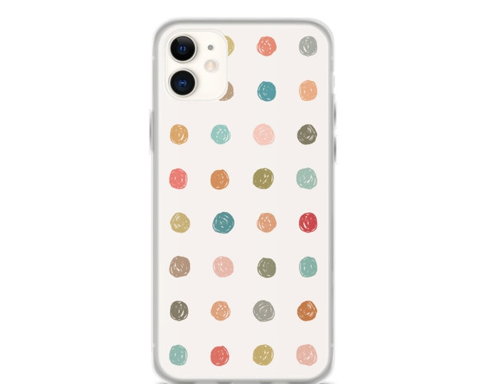 iPhone Case - Hand-Drawn, Colorful, Polka Dot Phone Case for iPhones