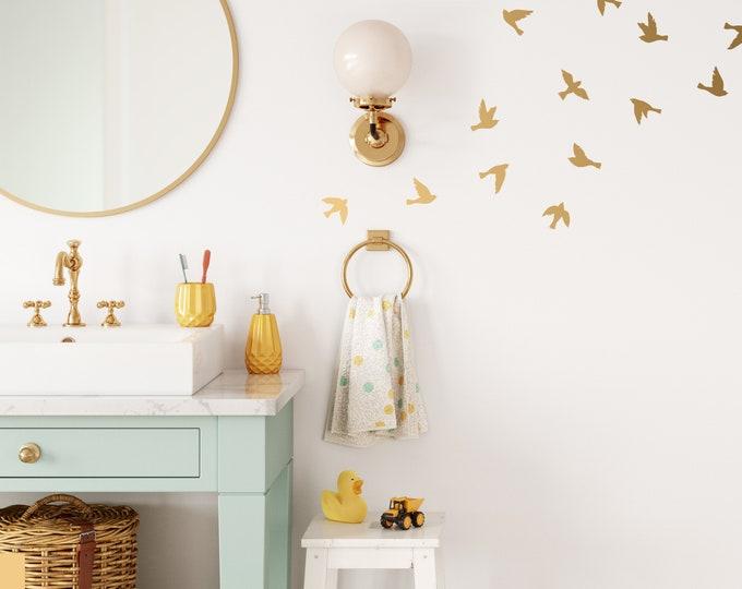 Bird Wall Decals - Nursery Decor, Kids Room Wall Art, Playroom Wall Stickers