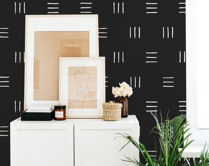 Geometric Wallpaper - Peel and Stick Removable Wallpaper, Modern Wall Art, Minimalist Wall Decor, Modern Farmhouse
