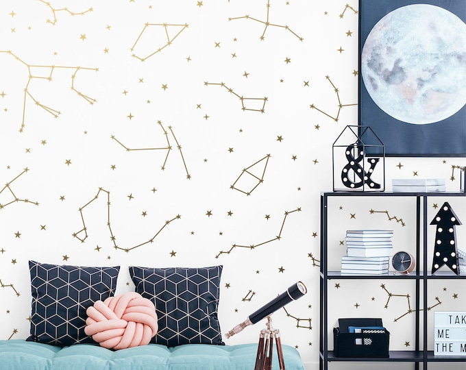 Constellation Wall Decals - Constellation Decor, Zodiac Gift, Star Decals, Zodiac Decor, Gift for Her, Constellation Wall Art, Wall Decor