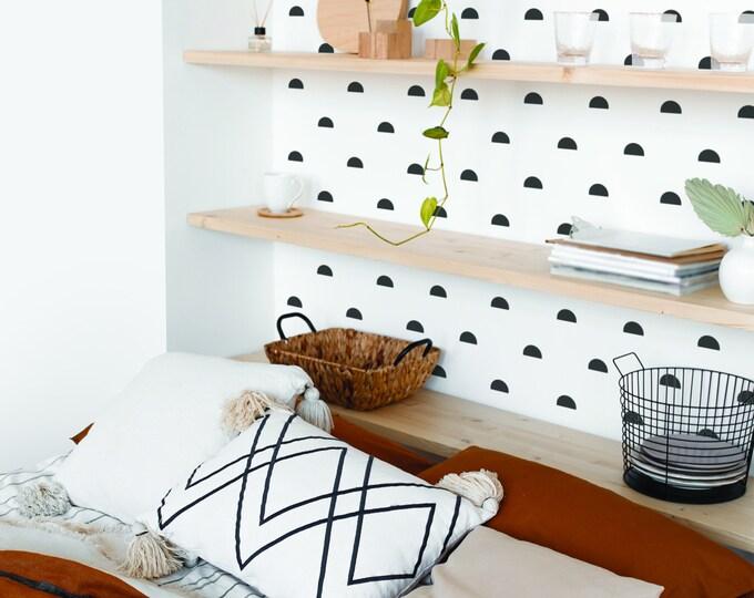 Semi Circle Wall Decals - Modern Wall Stickers, Nursery Decor, Kids Room Wall Art, Scandinavian Home Decor