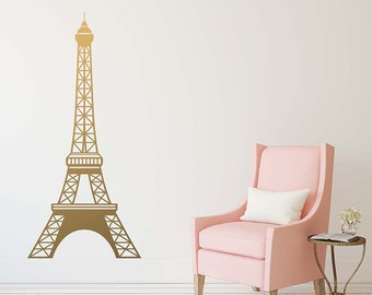 Eiffel Tower Wall Decal | Etsy