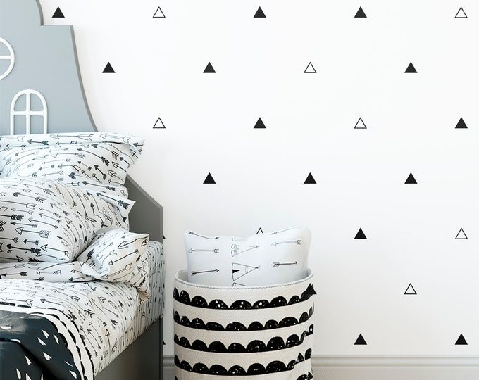 Triangle Wall Decals - Vinyl Wall Decals, Wall Decor, Geometric Wall Decals, Triangle Wall Stickers, Nursery Decor