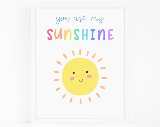 Sunshine Art Print - Nursery Art, Watercolor Wall Art, Wall Decor, Kids Art Print, Kids Bedroom Decor