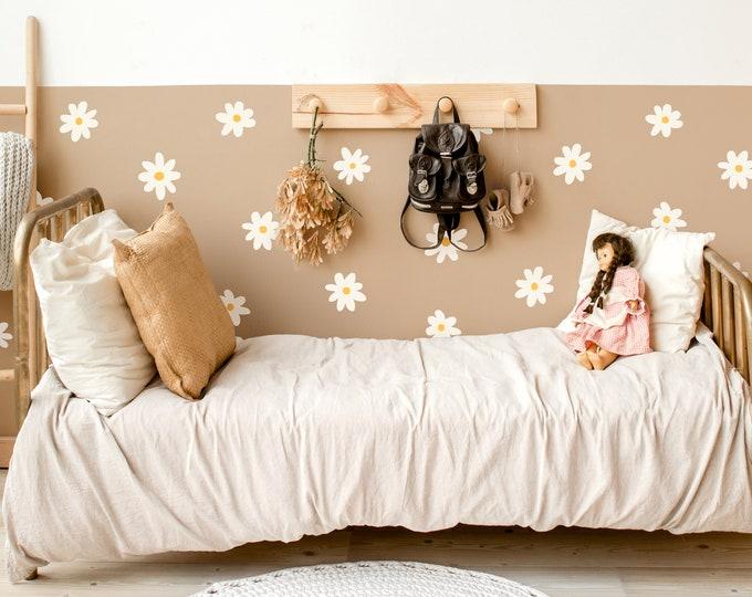 Daisy Wall Decals - Flower Wall Stickers, Nursery Decor, Kids Room Wall Art