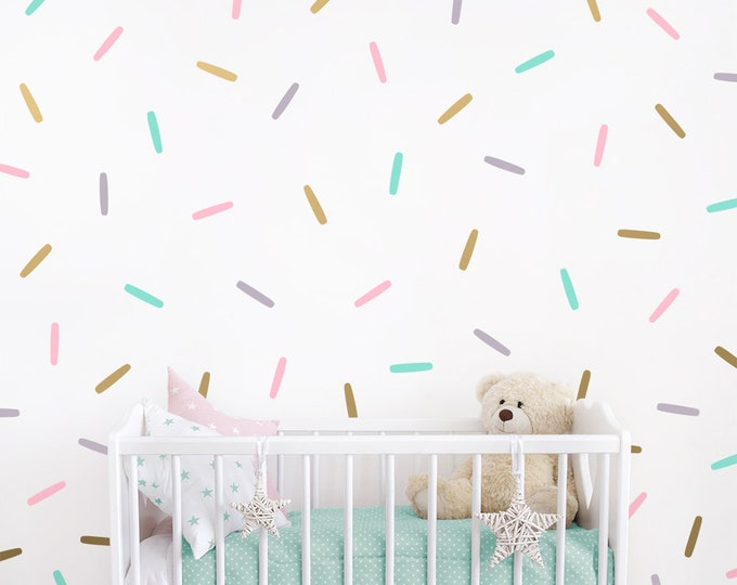 Sprinkle Wall Decals - Confetti Wall Decal Set, Vinyl Wall Decals, Wall Stickers, Nursery Decals, Modern Wall Decals, Kids Room Decals