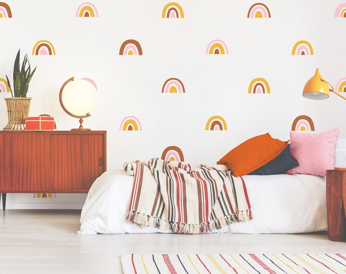 Rainbow Wall Decals - Personalized Rainbow Wall Stickers, Colorful Wall Decor, Kids Room Decor, Nursery Wall Art