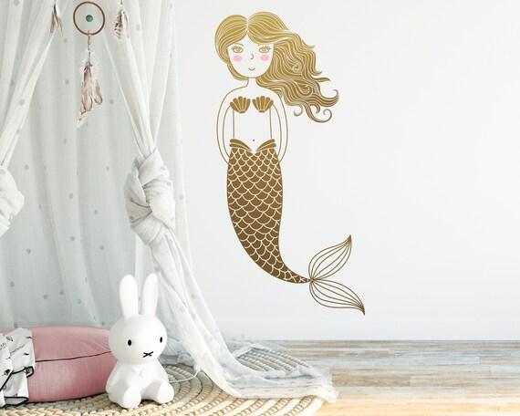 Mermaid Wall Decal - Kids Room Decal,  Nursery Decal, Mermaid Decor, Wall Decor, Nursery Decor, Wall Art, Kids Room Decor, Gifts, Nursery