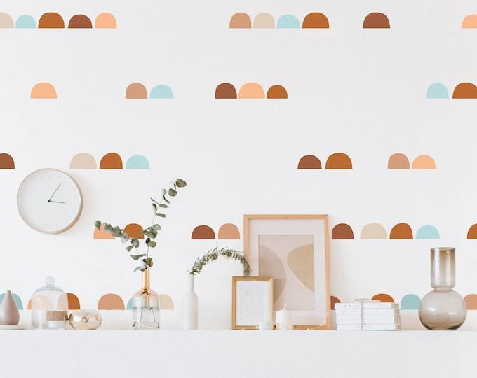 Scandinavian Hill Wall Decals - Removable Wall Stickers, Kids Room Decals, Modern Farmhouse Decor, Nursery Wall Decor