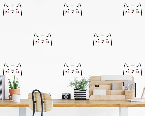 Cat Wall Decals - Kids Wall Decal, Nursery Decal, Vinyl Decal, Cat Wall Art, Nursery Decor, Cat Decor