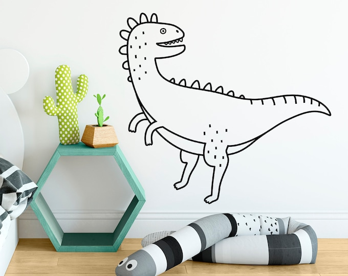 Dinosaur Wall Decal - Dinosaur Decor, Dinosaur Gift, Dinosaur Wall Art, Nursery Decor, Nursery Wall Sticker, Kids Room Decor, Vinyl Decal