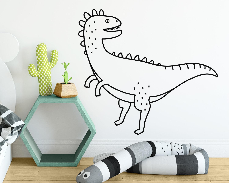 Dinosaur Wall Decal   Dinosaur Decor, Dinosaur Gift, Dinosaur Wall Art, Nursery  Decor, Nursery Wall Sticker, Kids Room Decor, Vinyl Decal