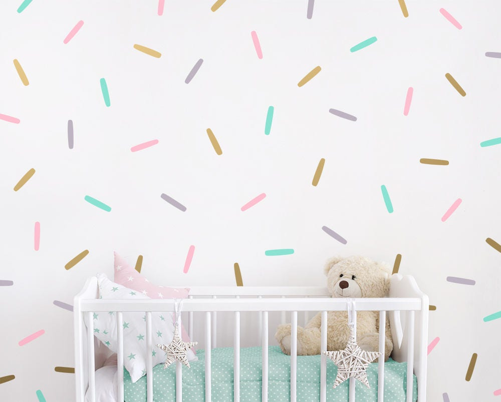Sprinkle Wall Decals Confetti Wall Decal Set Vinyl Wall Etsy