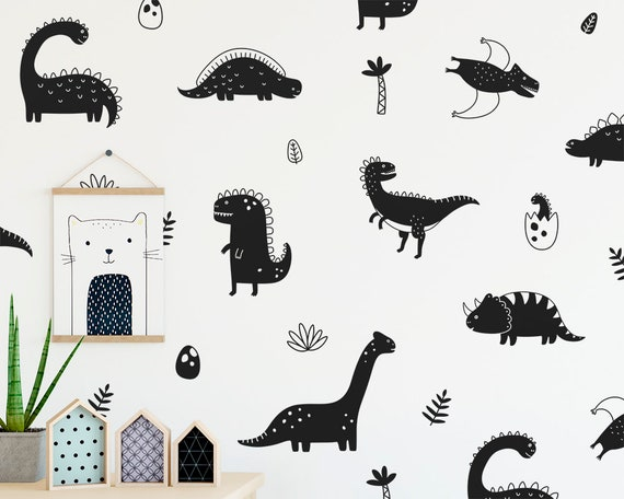Dinosaur Wall Decals - Nursery Decor, Dinosaur Decor, Removable Wall Stickers, Kids Room Wall Art, Bedroom Decor, Gift for Kids