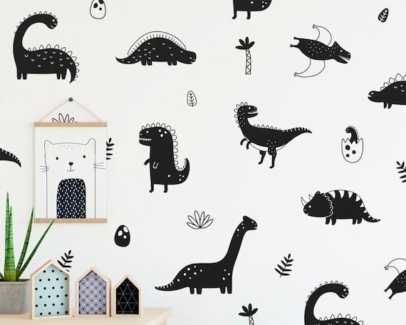 Dinosaur Wall Decals - Nursery Decor, Dinosaur Decor, Nursery, Wall Decor, Wall Art, Decal, Kids Room Decor, Dinosaur Gift, Wall Stickers