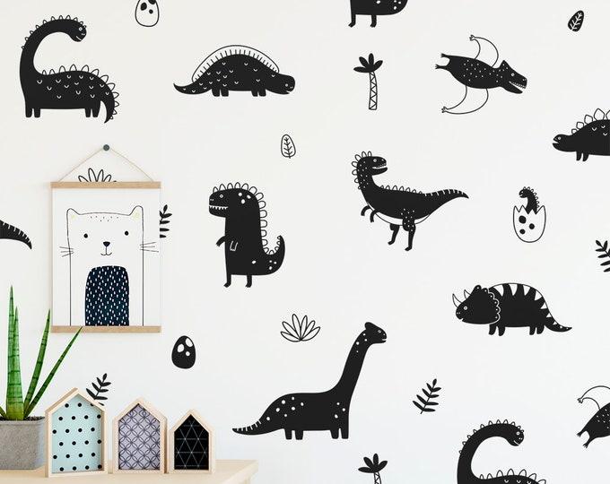 Dinosaur Wall Decals - Nursery Decor, Dinosaur Decor, Removable Wall Stickers, Kids Room Wall Art, Bedroom Decor, Gift for Kids