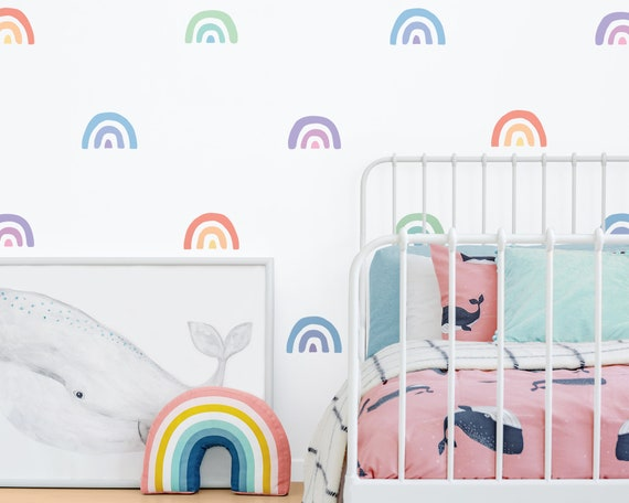Rainbow Wall Decals - Reusable Decals, Nursery Decor, Rainbow Decor, Rainbow, Wall Art, Kids Room Decor