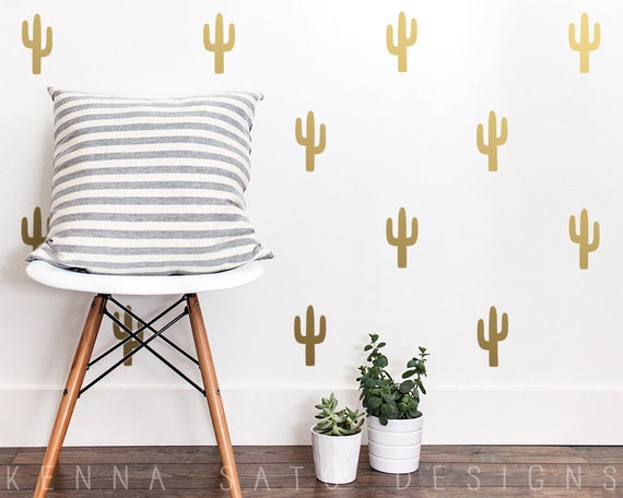 Cactus Wall Decals - Cactus Decals, Cactus Decor, Wall Decor, Cactus Wall Art, Wall Stickers, Nursery Decor, Kids Room Decor, Nursery Decals