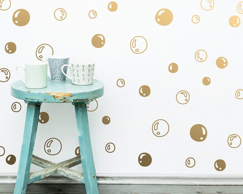 Bubble Wall Decals  Vinyl Wall Decals Unique Hand Drawn image 0
