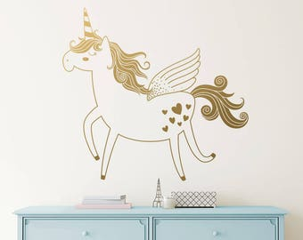 Unicorn Wall Decal - Vinyl Wall Decal, Unicorn Decal, Kids Wall Decal, Nursery Decal, Removable Wall Sticker, Vinyl Decal, Unicorn Decor