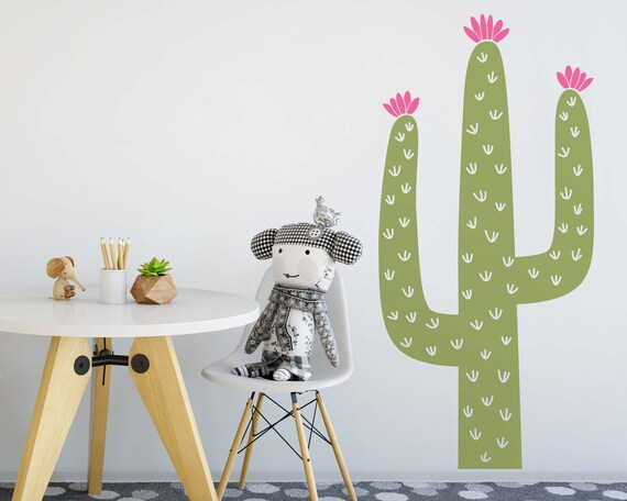 Cactus Wall Decal - Nursery Decal, Cactus Decals, Kids Room Decal, Tribal Nursery, Nursery Wall Decor, Wall Sticker