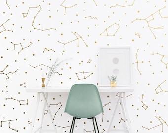 Constellation Wall Decals - Constellation Wall Decor, Zodiac Gift, Star Decals, Zodiac Decor, Gift for Her, Constellation Wall Art