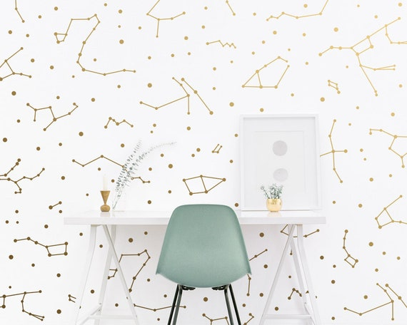 Constellation Wall Decals - Constellation Wall Decor, Zodiac Gift, Star Decals, Zodiac Decor, Gift for Her, Constellation Wall Art