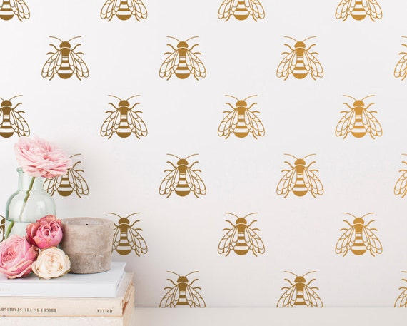 Bee Wall Decals - Honey Bee Decal Set, Vinyl Wall Decals, Gift for Her, Bumble Bee Wall Stickers, Nursery Decals, Wall Decor