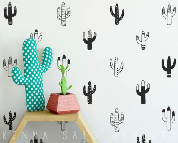 Cactus Wall Decals - Nursery Decals, Vinyl Wall Decals, Tribal Decals, Tribal Nursery Decor, Geometric Wall Stickers, Unique Home Decor