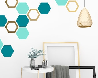 Honeycomb Wall Decals - Hexagon Decals, Geometric Wall Art, Wall Decor, Honeycomb, Modern Wall Art, Gift for Home, Nursery Decals, Kids Room