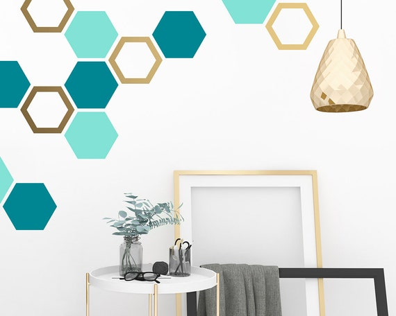 Honeycomb Wall Decals - Hexagon Decals, Geometric Wall Art, Wall Decor, Honeycomb, Modern Wall Art, Gift for Home, Nursery Decals, Kids Room