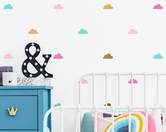 Cloud Wall Decals - Cloud Wall Stickers, Nursery Decals, Kids Room Decor, Unique Wall Decor, Baby Room Sticker, Nursery Decor, Cute Wall Art