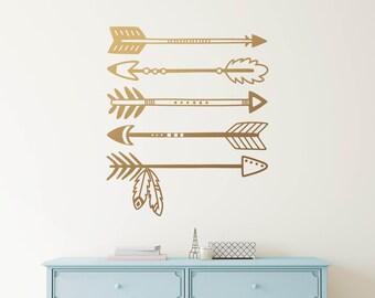 Tribal Arrows Wall Decal - Arrow Decals, Nursery Decal, Vinyl Wall Decal, Cute Wall Sticker, Tribal Nursery Decor