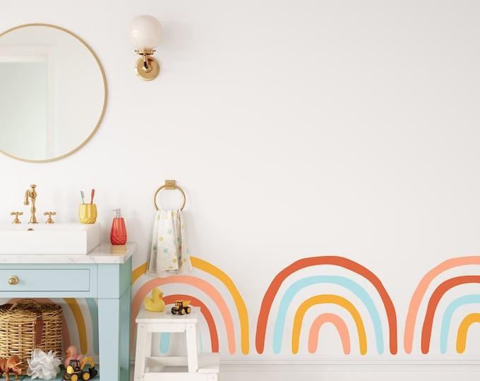 Rainbow Wall Decals - Nursery Decor, Kids Bedroom Wall Art, Removable Nursery Wall Stickers