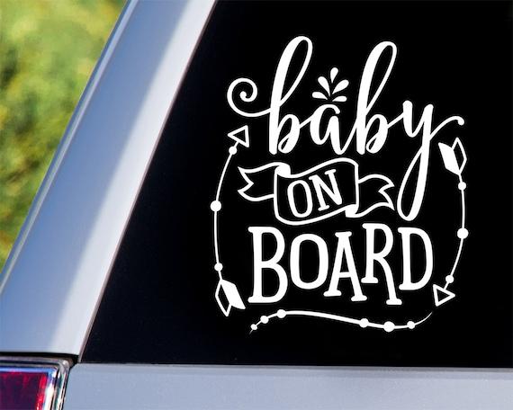 Baby on Board Car Decal - Car Decals, Window Decals, Car Stickers, Baby Car Window Decals, Car Window, Baby on Board, Baby on Board Sticker