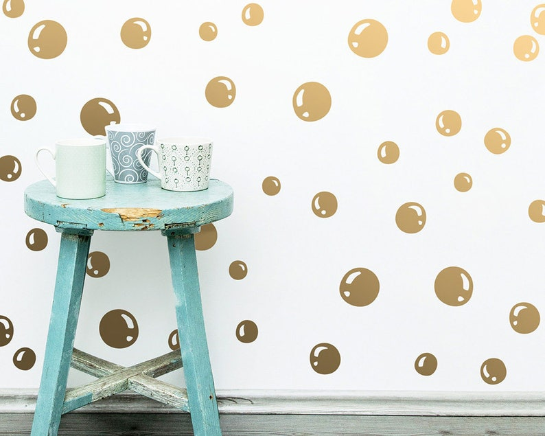 Bubble Wall Decals  Vinyl Wall Decals Bubble Decal Set image 0